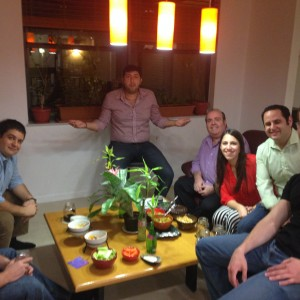 The Shabbat Project – Dinner at Tribester Hosts' Homes, October 2014