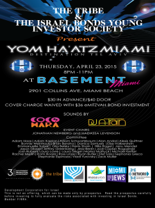 Yom Ha'atz Miami: Destination Tel Aviv @ DISCOBOX, Basement Miami, Edition Hotel | Miami Beach | Florida | United States
