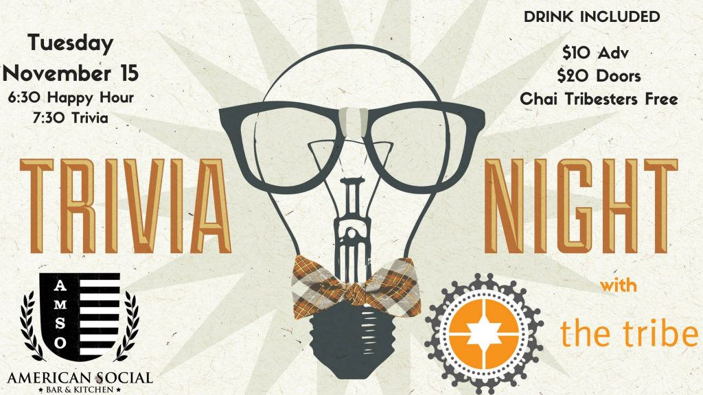 Trivia Night with The Tribe: November 2016 @ American Social Brickell | Miami | Florida | United States