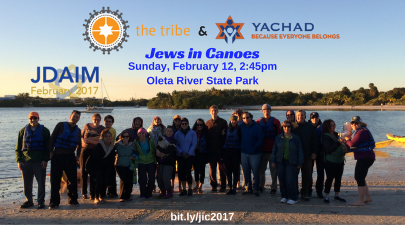 The Tribe & Florida Yachad Present: Jews in Canoes @ Oleta River State Park | North Miami Beach | Florida | United States